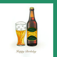 Quilling Card Beer Birthday Card