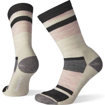 SmartWool Womens Striped Light Cushion Hiking Crew Sock