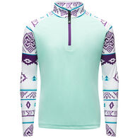 Spyder Active Sports Girl's Limitless Surface Half-Zip Long-Sleeve Pullover