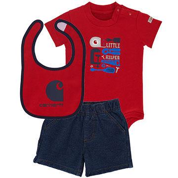 Carhartt Infant/Toddler Boys' Little Helper Gift Set, 3pc