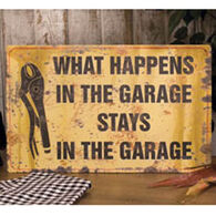 Ohio Wholesale What Happens Garage Metal Sign