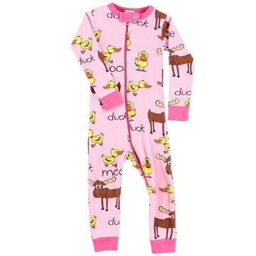 Lazy One Infant Girls Duck Duck Moose Union Suit