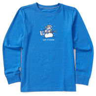 Life is Good Youth Let It Snow Vintage Long-Sleeve Shirt