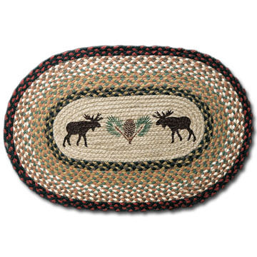 Capitol Earth Oval Moose/Pinecone Rug
