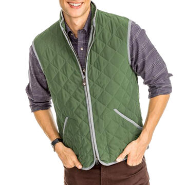 Southern Tide Mens Doubleback Quilted Field Vest