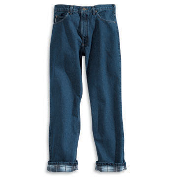 Carhartt Mens Relaxed Fit Flannel-Lined Jean