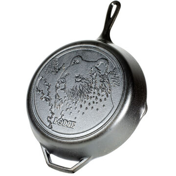 Lodge Wildlife Series Bear 12 Cast Iron Skillet