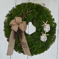 "Bessey Ridge Wreaths 24"" Maine Seacoast Wreath"