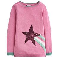 Joules Girl's Miranda Intarsia Long-Sleeve Sweater