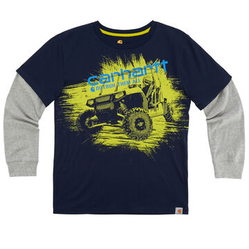 Carhartt Boys OutRun Them All Quad Layered Long-Sleeve T-Shirt