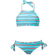 Snapper Rock Swimwear Girl's Orange Crush Halter Two-Piece Swimsuit