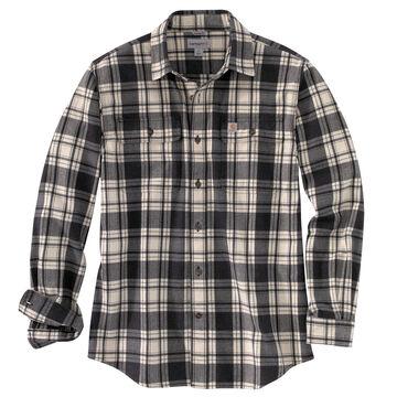 Carhartt Mens Hubbard Plaid Flannel Long-Sleeve Shirt