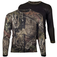 Gamehide Men's Big & Tall Ground Blind Reversible Long-Sleeve T-Shirt