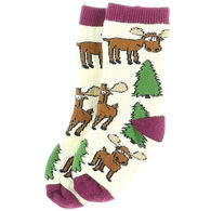 Lazy One Infant Moose Hug Sock