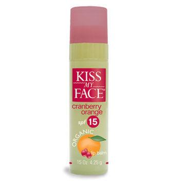 Kiss My Face SPF 15 Cran Orange Lip Balm w/ Organic Ingredients
