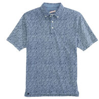johnnie-O Men's Overboard 3-Button Printed Short-Sleeve Polo Shirt