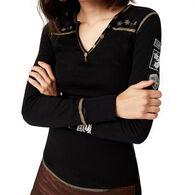 Alp N Rock Women's Edelluxe Henley Long-Sleeve Shirt
