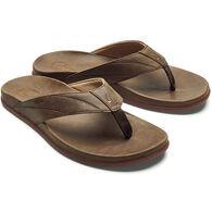 OluKai Men's Pikoi Leather Flip Flop Sandal