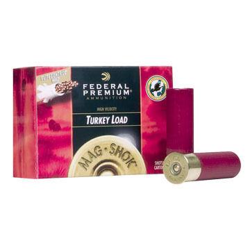 """Federal Premium Mag-Shok Lead 12 GA 3-1/2"""" 2-1/4 oz. #4 Shotshell Ammo (10)"""