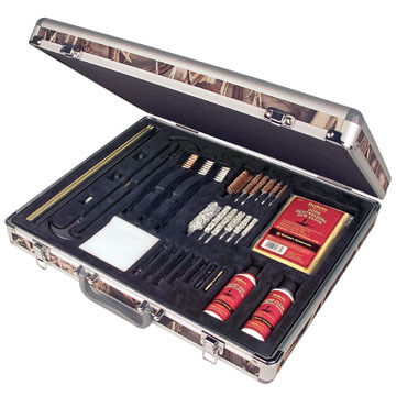 Outers 31-Piece Universal Aluminum Case Odorless Gun Care Kit