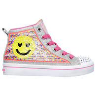 Skechers Girls' Flip Kicks: Twi-Lites 2.0 Sequin Society High Top Athletic Shoe
