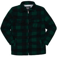 Maxxsel Apparel Men's Buffalo Plaid Sherpa-Lined Long-Sleeve Shirt