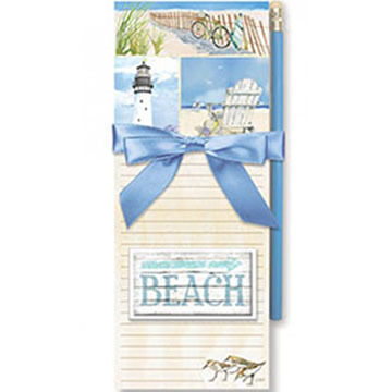 Cape Shore Coastal Collage Magnetic Pad Gift Set