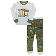 Lazy One Toddler Boy's Duck Duck Moose Long-Sleeve Pajama Set