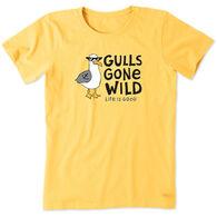 Life is Good Women's Gulls Gone Wild Crusher Short-Sleeve T-Shirt