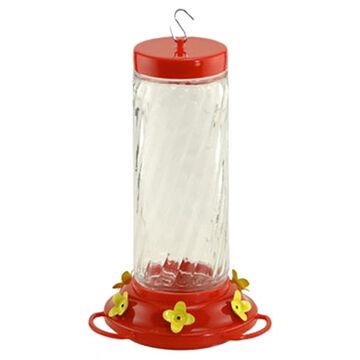 Audubon Large Swirl Glass Hummingbird Bird Feeder