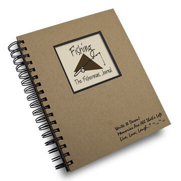 "Journals Unlimited ""Write it Down!"" Fishing Journal"