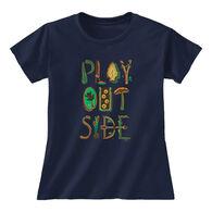 Earth Sun Moon Trading Women's Play Outside Short-Sleeve T-Shirt