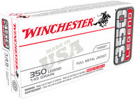 Winchester USA 350 Legend 145 Grain FMJ Rifle Ammo (20)