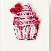 Quilling Card Cupcake Gift Enclosure Card