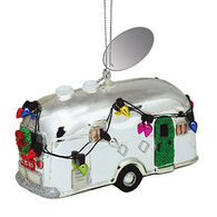 Cape Shore Camper Glass Ornament