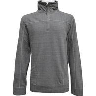 Pacific Teaze Men's 1/4-Zip Cord Trim Fleece Long-Sleeve Shirt
