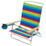 RIO Brands 5-Position Lay Flat Beach Chair