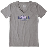 Life is Good Women's Happy Trails Vista Cool Vee Short-Sleeve T-Shirt