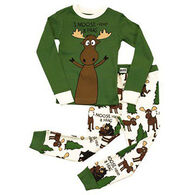 Lazy One Boys' Moose Hug Pajama Set