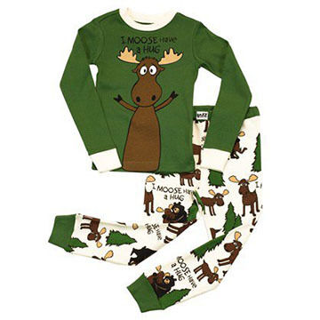 Lazy One Boys Moose Hug Pajama Set