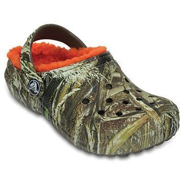 Crocs Boys' & Girls' Classic Reatree Max-5 Fuzz Lined Clog
