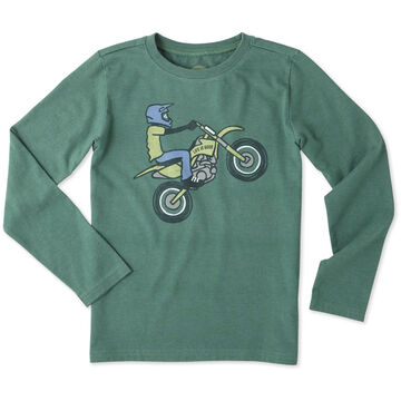 Life is Good Boy's Dirt Bike Rider Crusher Long-Sleeve Shirt