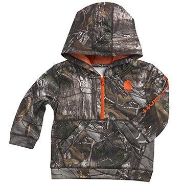 Carhartt Infant/Toddler Boys Camo Half-Zip Hooded Sweatshirt