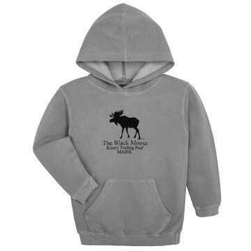 Original Design Youth Kittery Trading Post Black Moose Hooded Sweatshirt