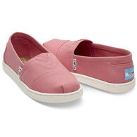 TOMS Girls' Canvas Alpargata Slip-On Shoe