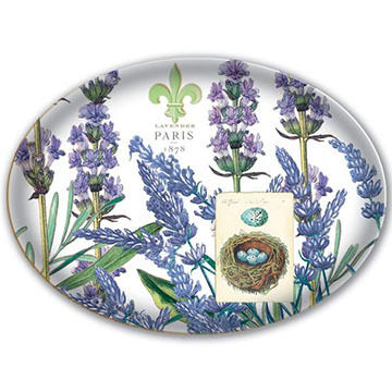 Michel Design Works Lavender Rosemary Glass Soap Dish