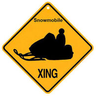 KC Creations Snowmobile XING Sign