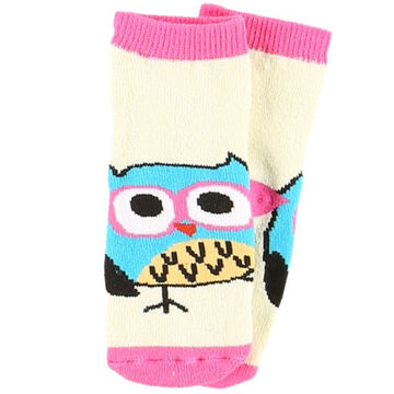 Lazy One Infant Girls Owl Yours Sock