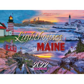Maine Scene Lighthouses of Maine 2022 Wall Calendar