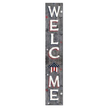 My Word! Welcome - Patriotic Porch Board